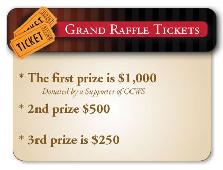 Grand Raffle tickets will be available during the dine out event or from any Co-County Wellness Services board member prior to the event.
