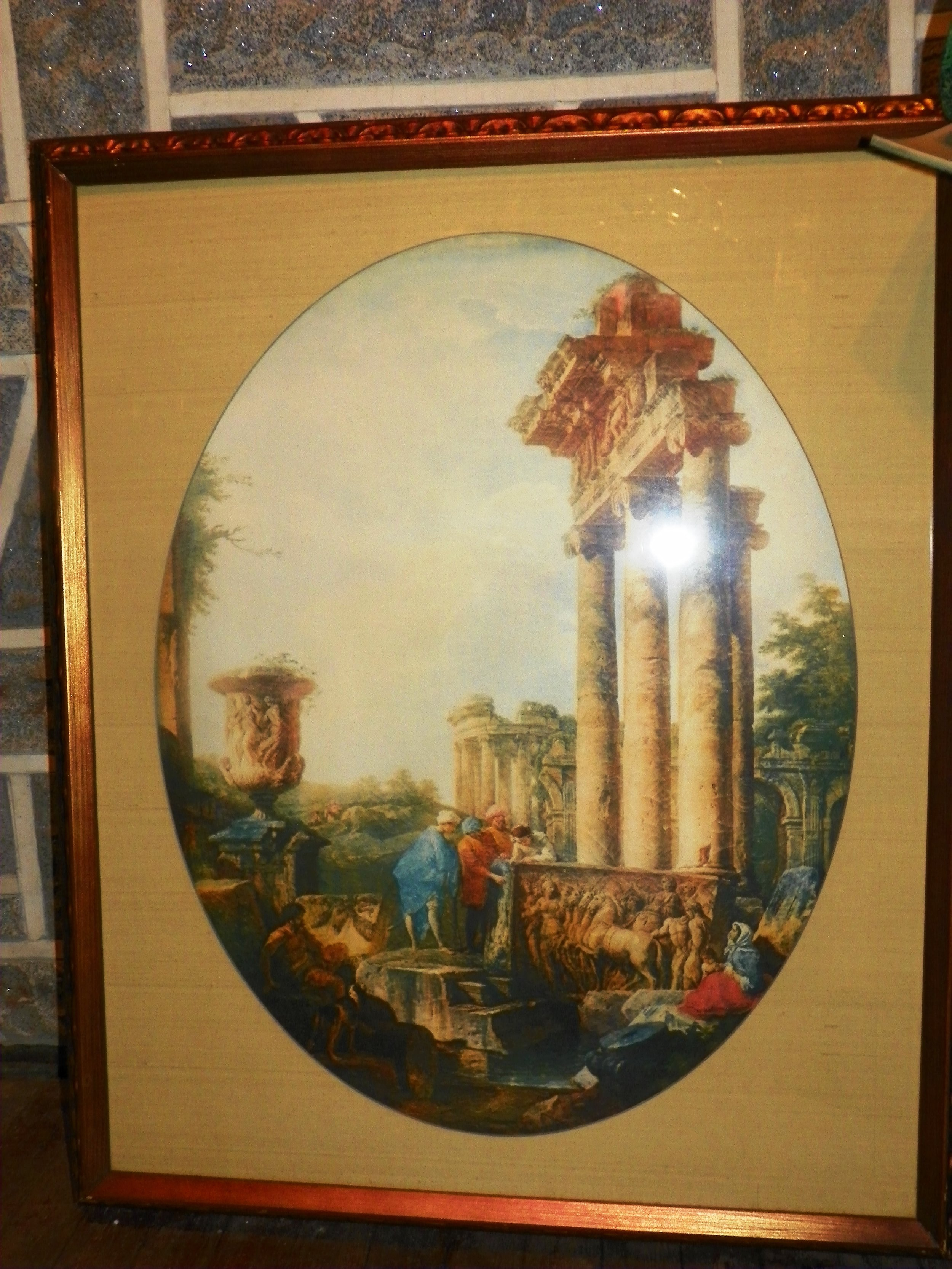 Roman Ruins art works - value of $80.00