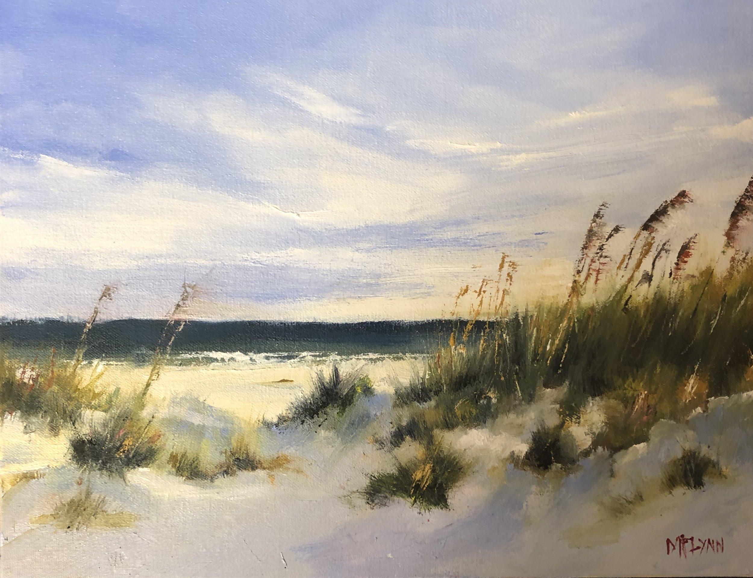 Fenwick Island DE - oil on 11 x 14 canvas panel - 16 x 20 framed 400.