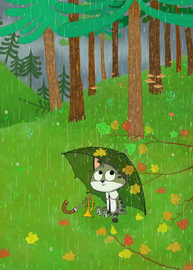 Nook in the rain