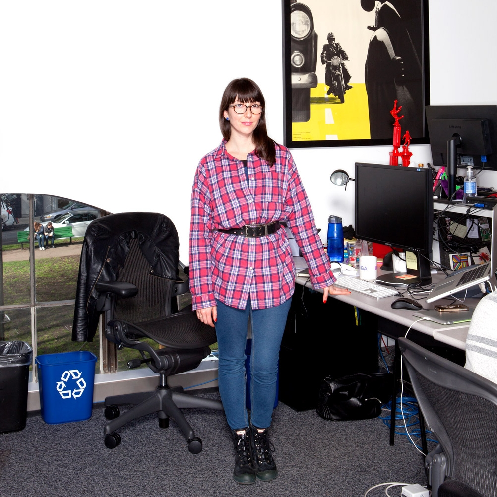 The one time I wore a horrible outfit to work, and  Wired came to visit.