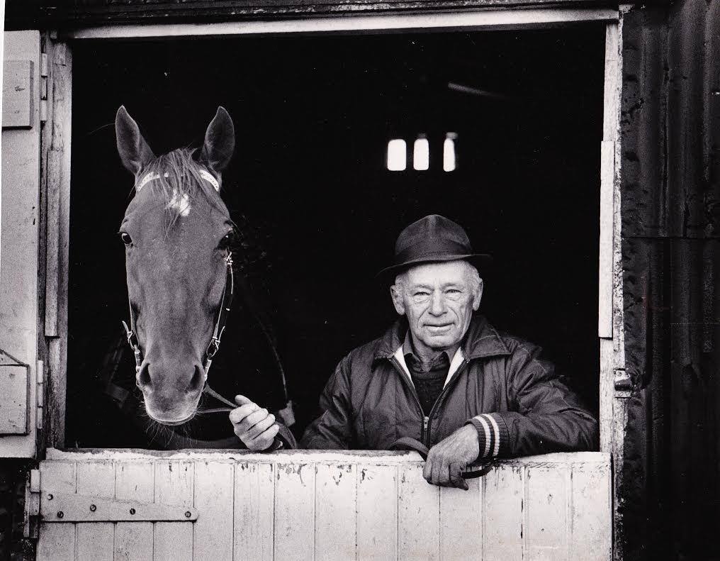 Kiwi, with trainer Snow Lupton.  Chris Miller, Auckland Star