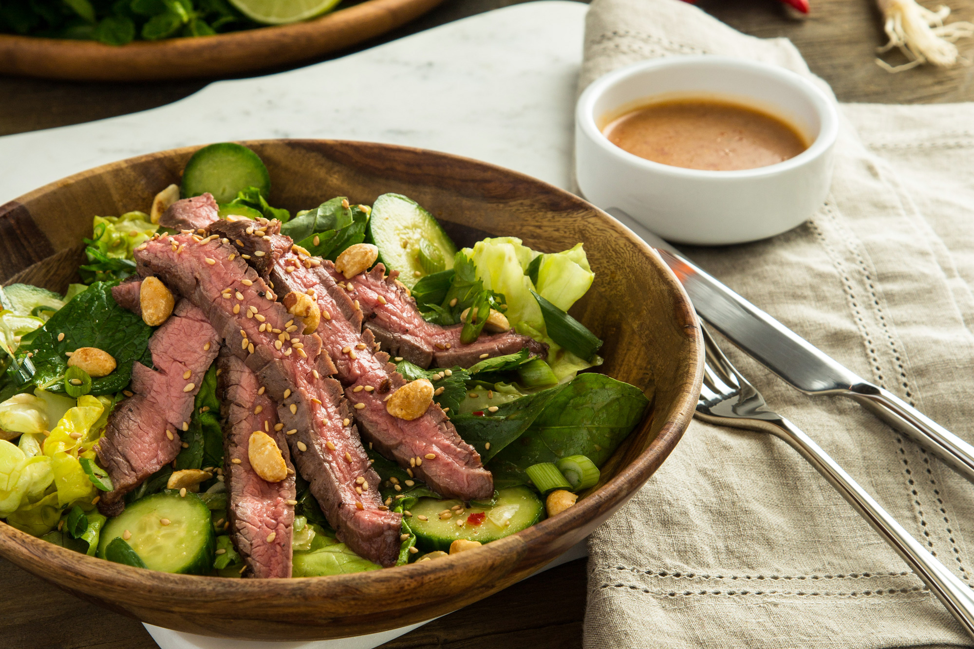 Thai Steak Salad with Basil and Mint