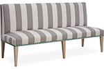 upholstered in blue stripe