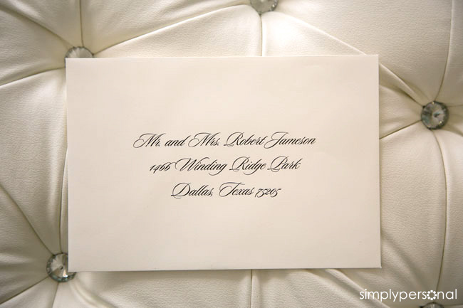 Altar Ego Paperie Wedding Guest Envelope Addressing