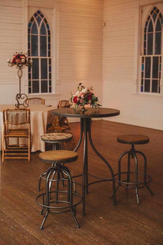 Mercury Hall Cocktail Table and Stools