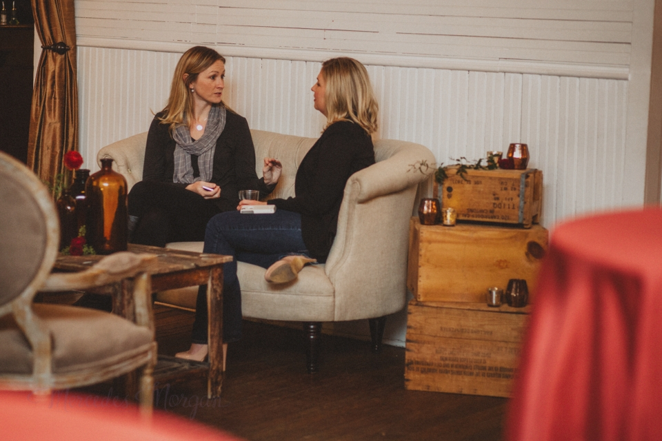 Chatting in the lounge