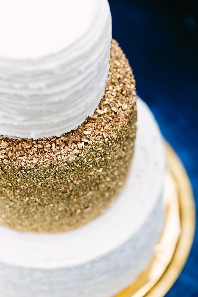 Gold Textured Cake Closeup