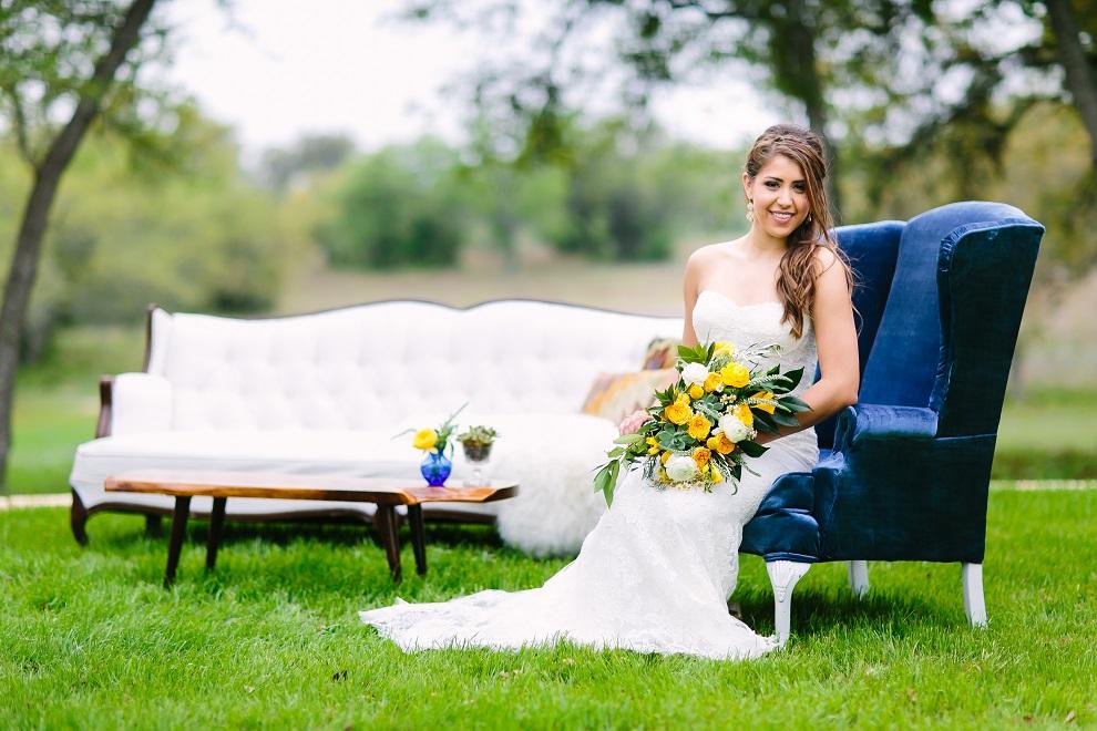 Brides of Austin, Birch & Brass Lounge Furniture