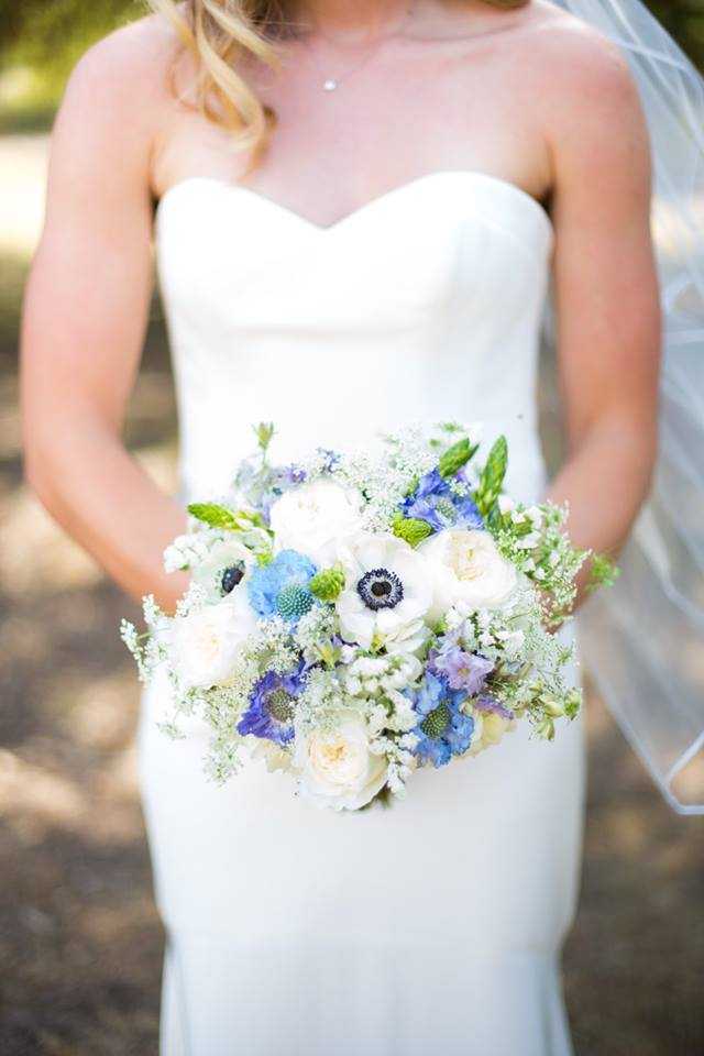Blue & White Bridal Bouquet