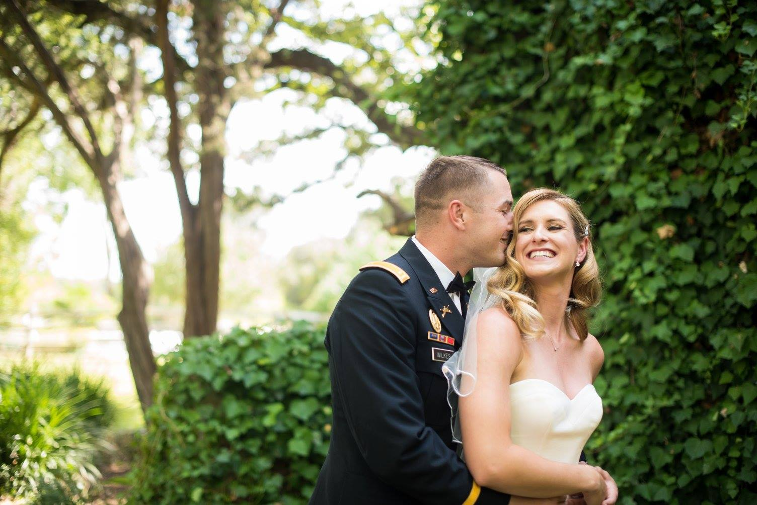 Military Wedding Couple