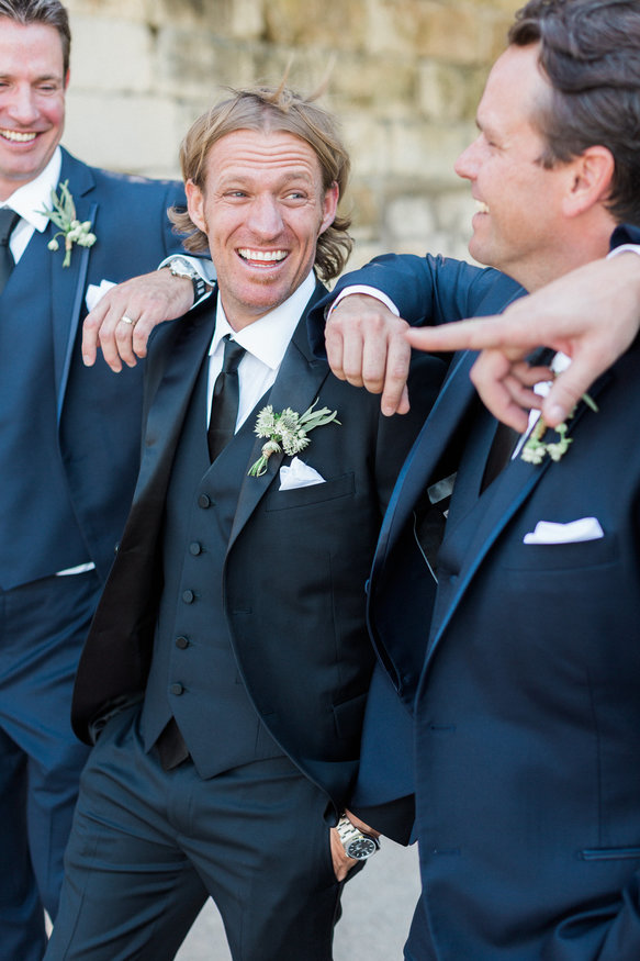 Happy groom & groomsmen