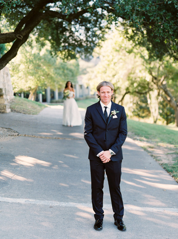 Bride & groom first look