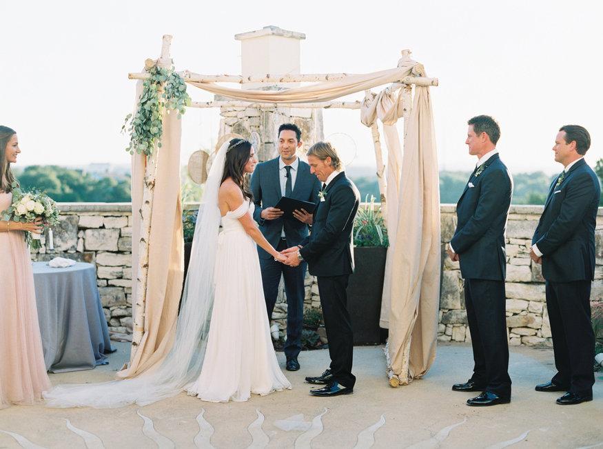 Wedding ceremony chuppah dreamcatchers