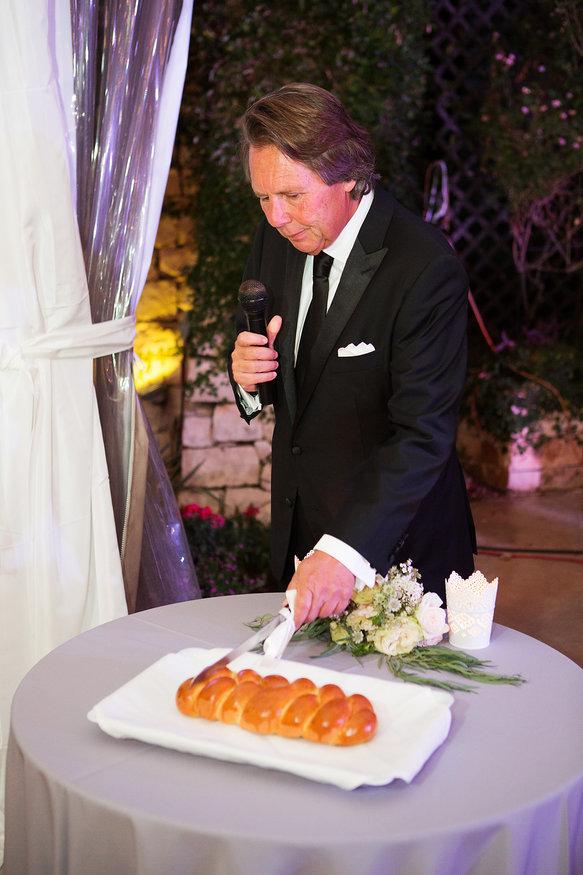 Challah cutting at wedding