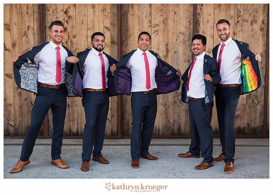 Groom and groomsmen custom suits