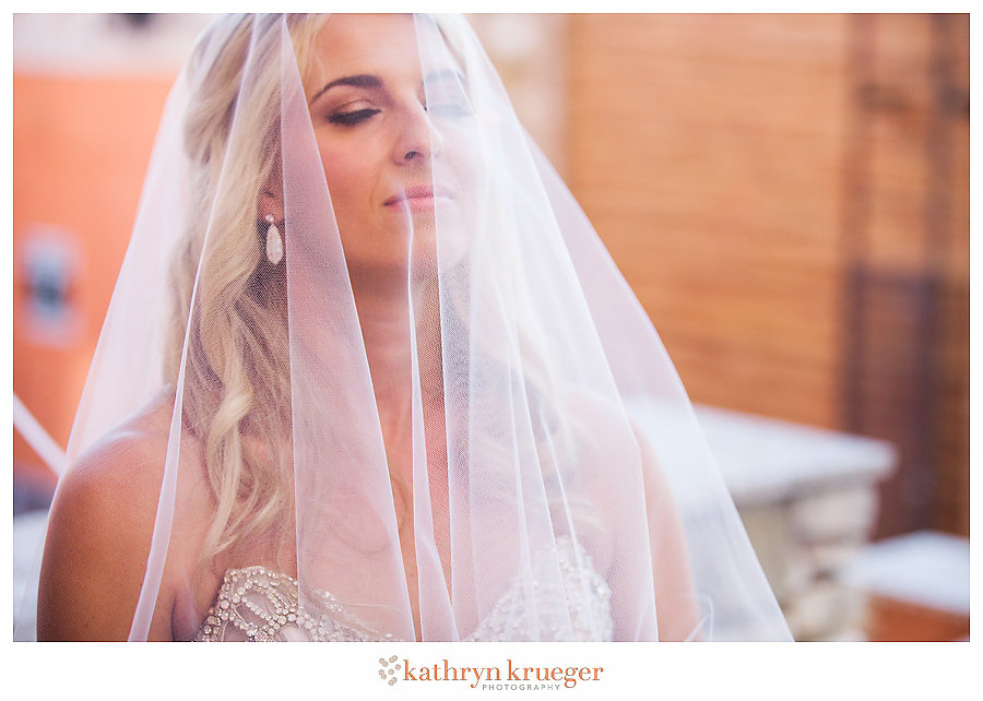 Bride soaking up her day