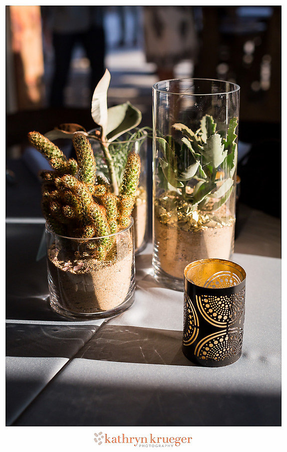 Multiple cacti centerpieces