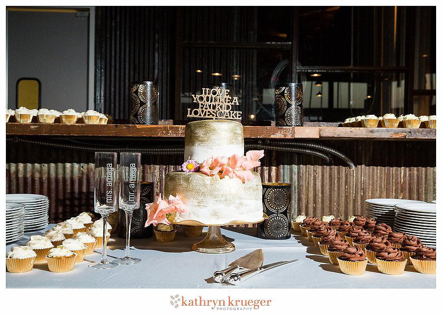 I Love You Like a Fat Kid Loves Cake wedding dessert buffet