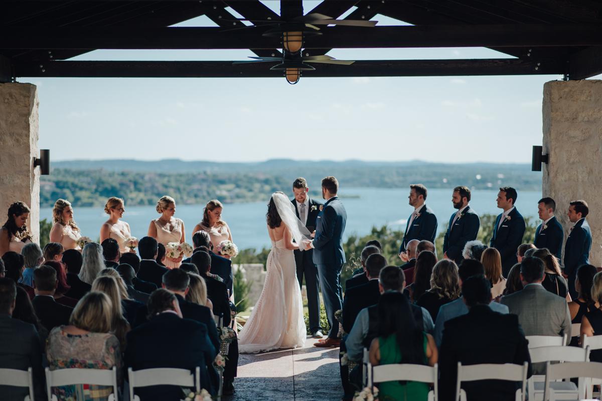 Vintage Villas pavilion wedding ceremony