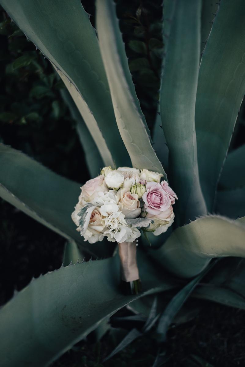 Bridesmaid bouquet in century plant