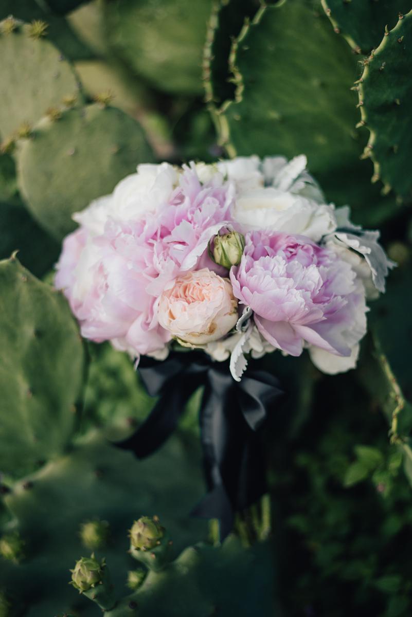 Ivory pink peony peach bridal bouquet