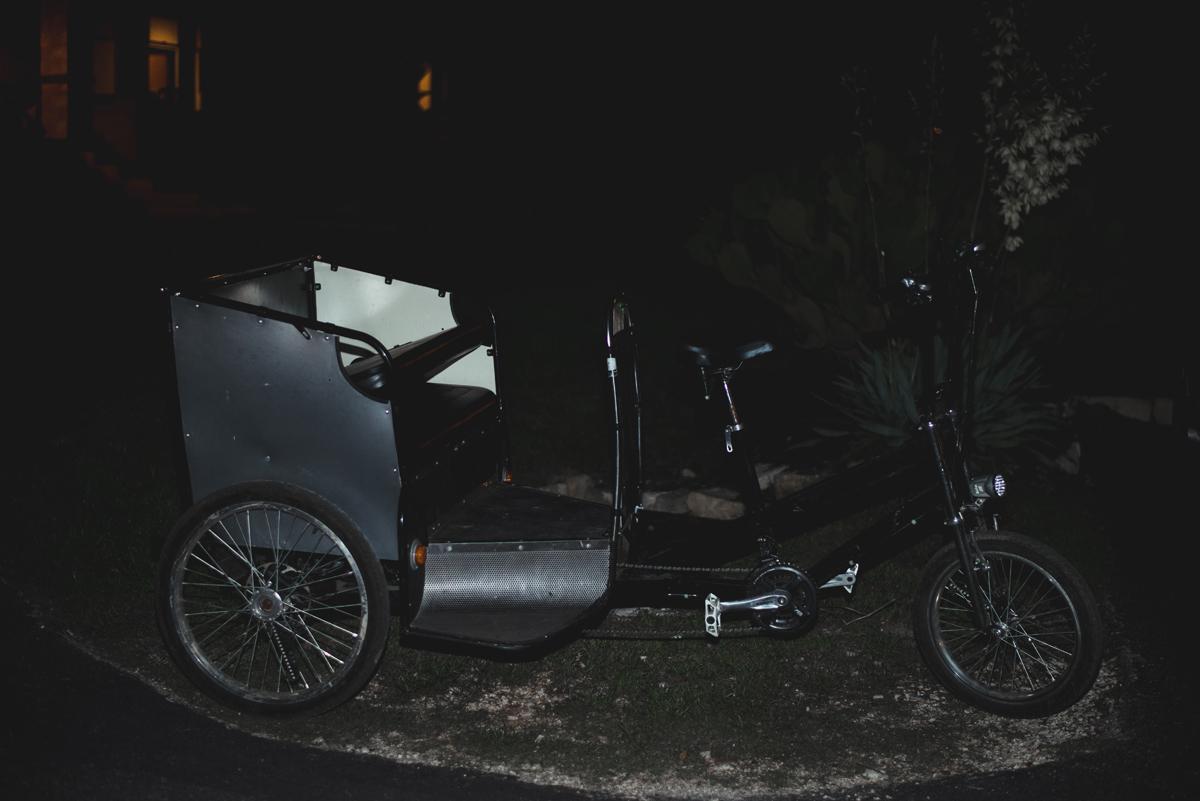 Pedicab wedding getaway