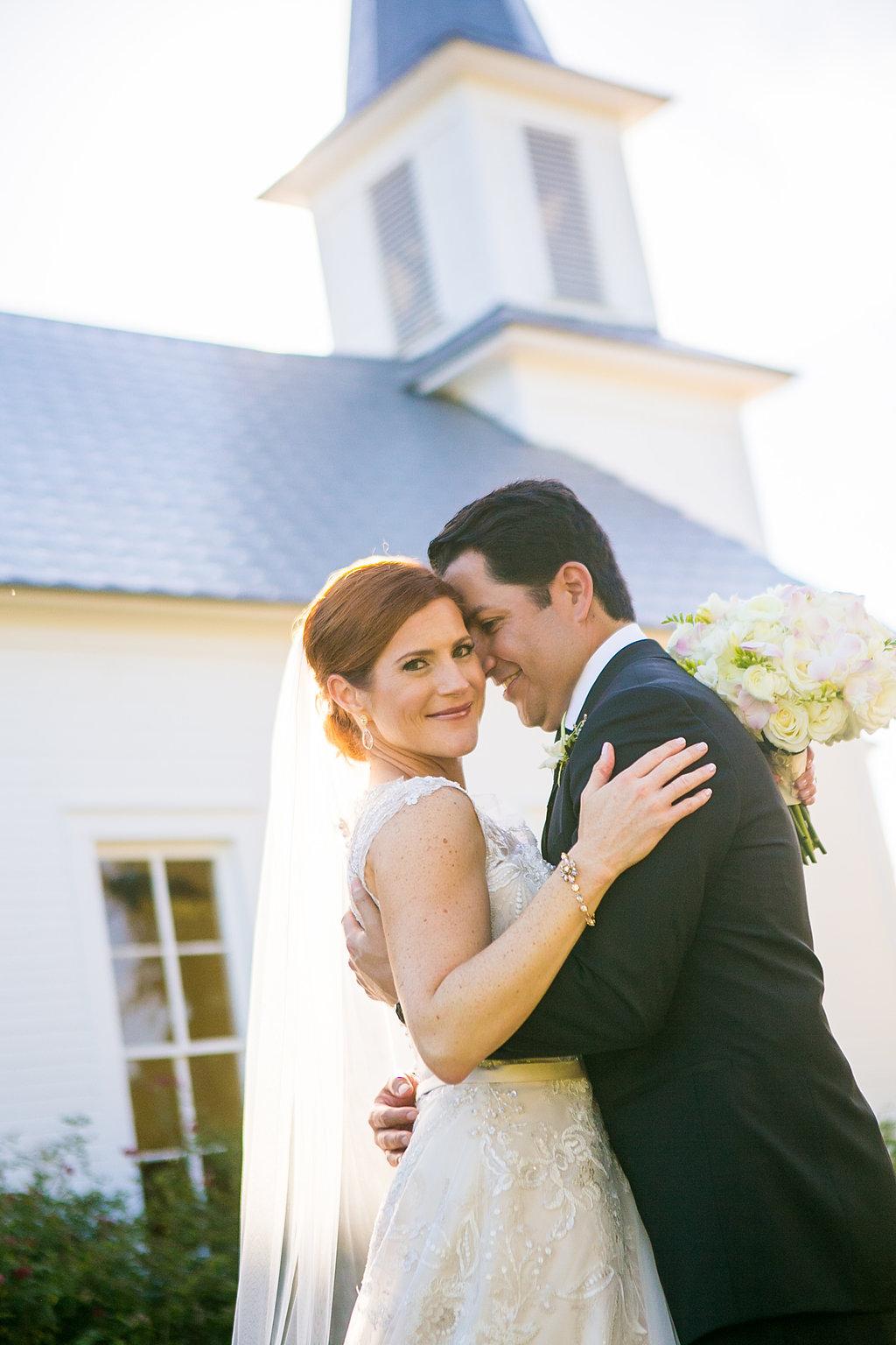 Bride & groom at Star Hill Ranch chapel