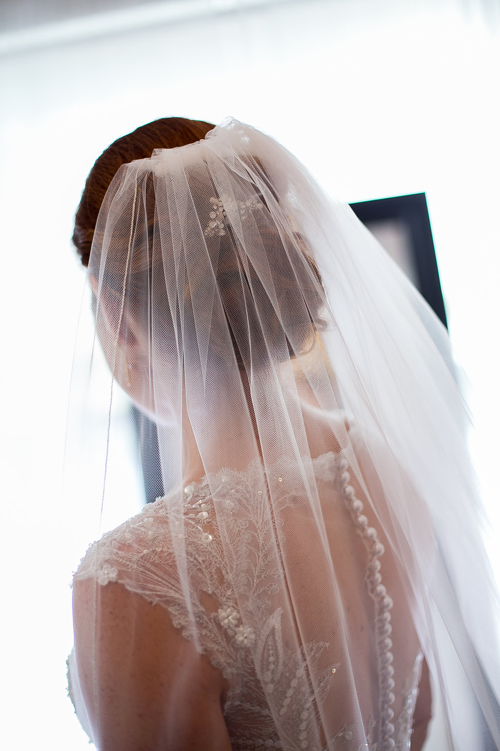 Bride's hair & veil