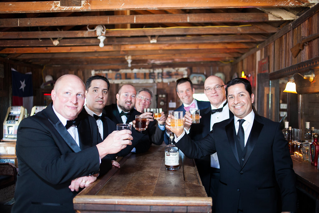 Groom, groomsmen & dads at Star Hill Ranch