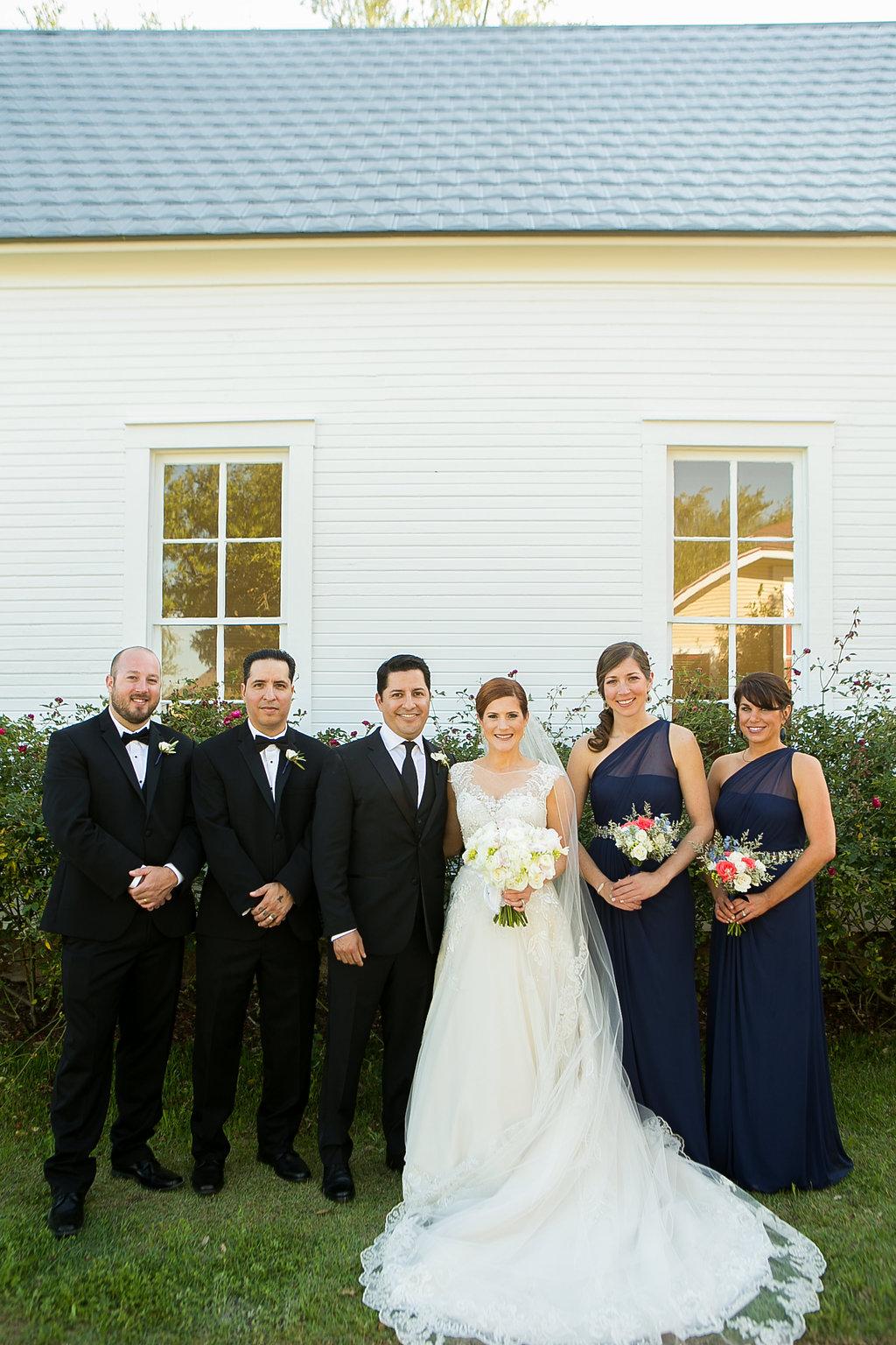 Bridal party at Star Hill Ranch