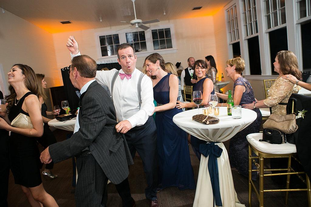 Wedding reception conga line