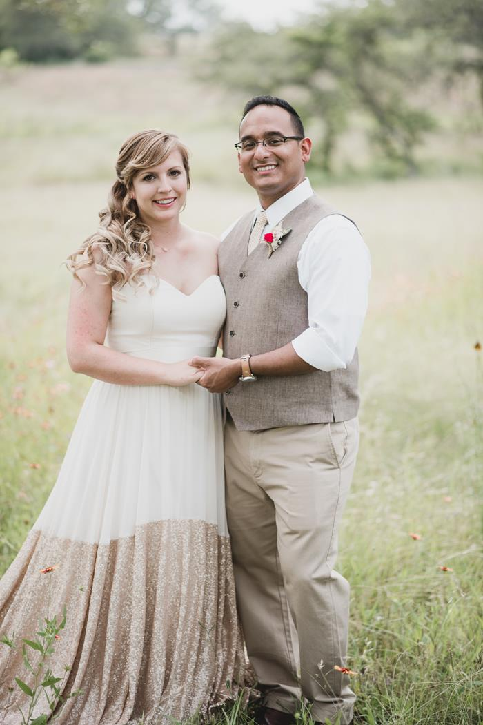Bride & groom at Ma Maison Dripping Springs