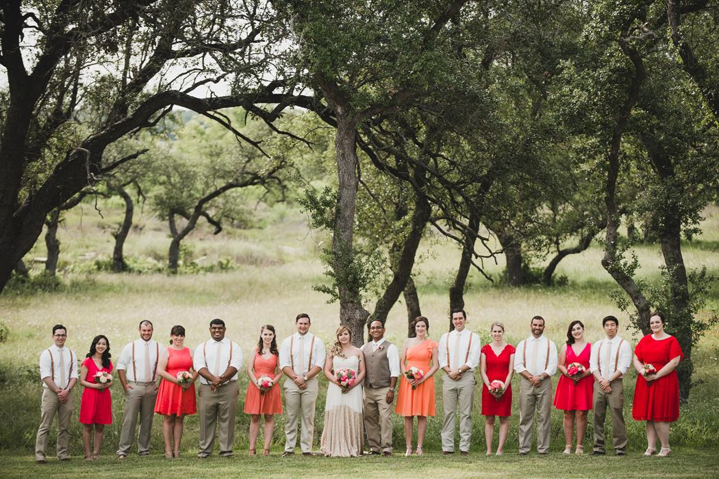 Ma Maison Bridal Party in Bright Colors