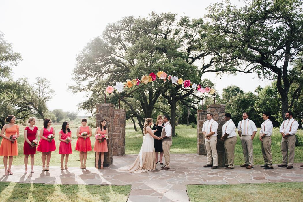 Ma Maison wedding ceremony under arch