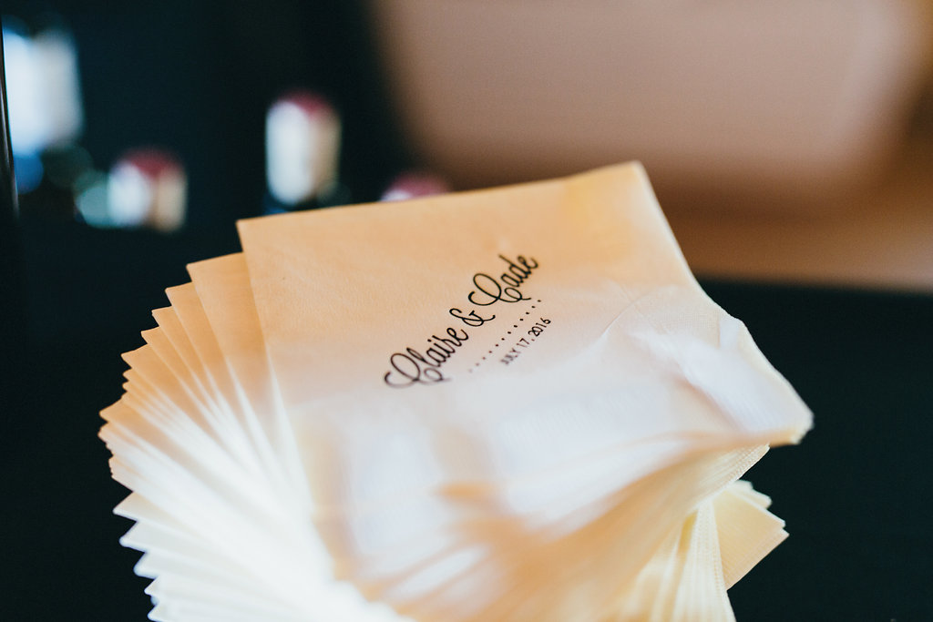 Cocktail napkins from Altar Ego Paperie - www.grantdanielsphotography.com