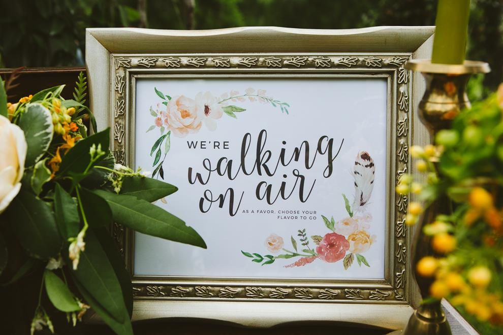 Archer & Olive watercolor favor sign