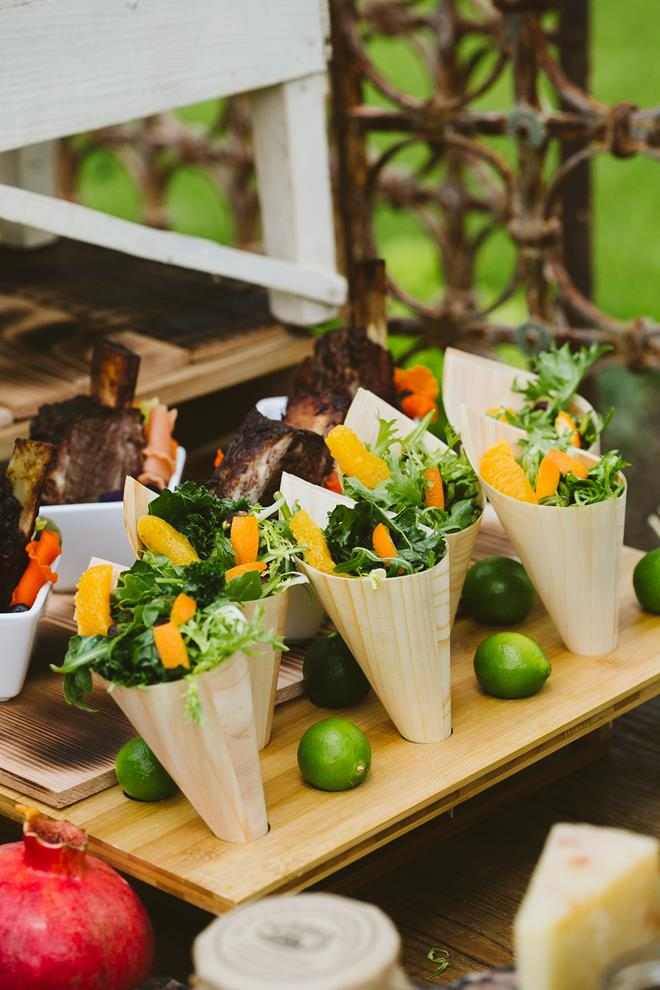 Rosemary's Catering small plates Brides of Austin styled shoot