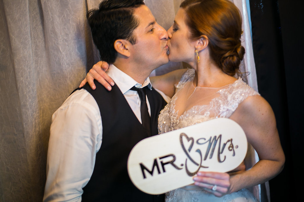 Lynne & Jeff hamming it up in the photobooth | Dustin Finkelstein Photography