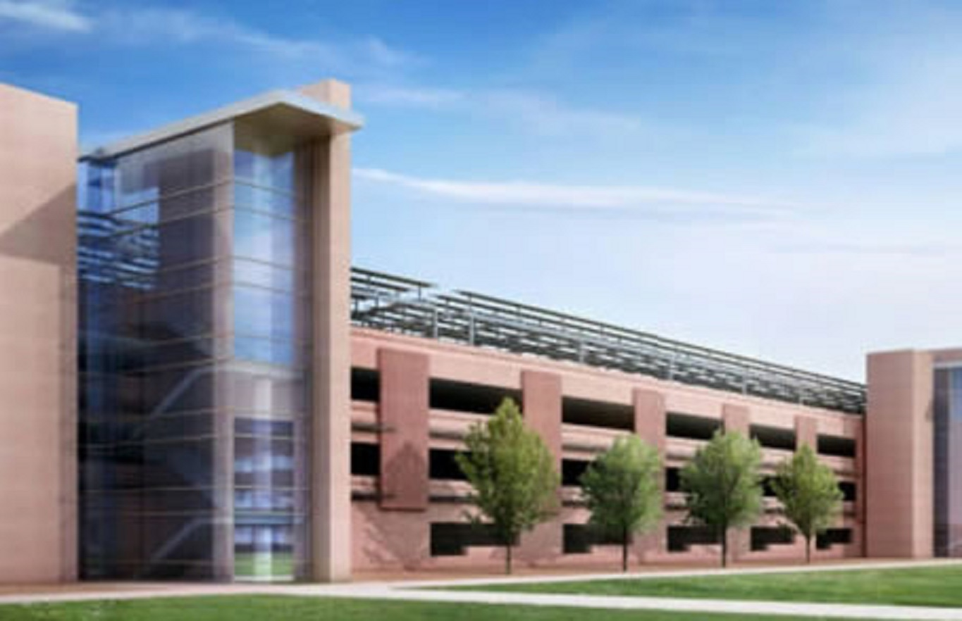 National Laboratory Parking Structure w/solar above