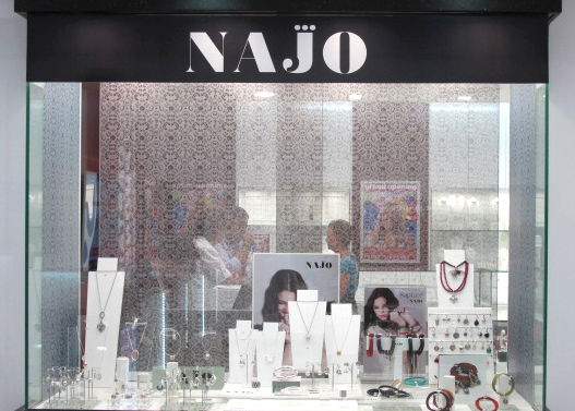 Najo Point of Sale by Mercury Creative including fabric window banner