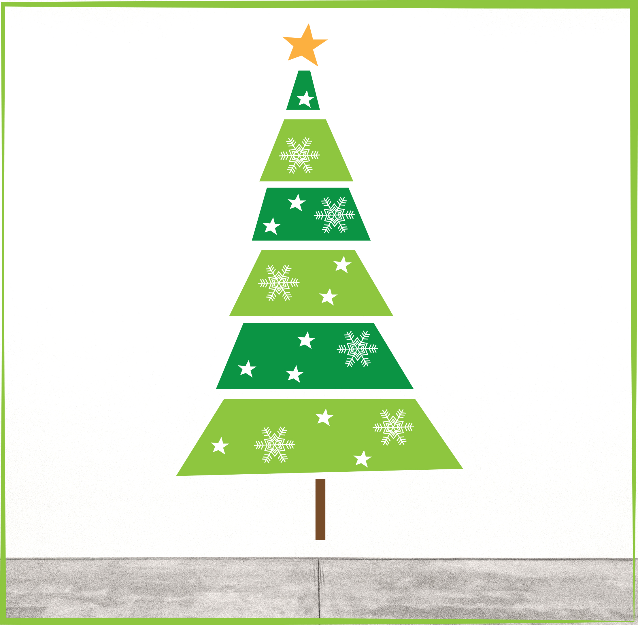 Pack 1:     Christmas Tree Cut Out  - $49    Size:  560 x 1000mm - Layers are supplied separately