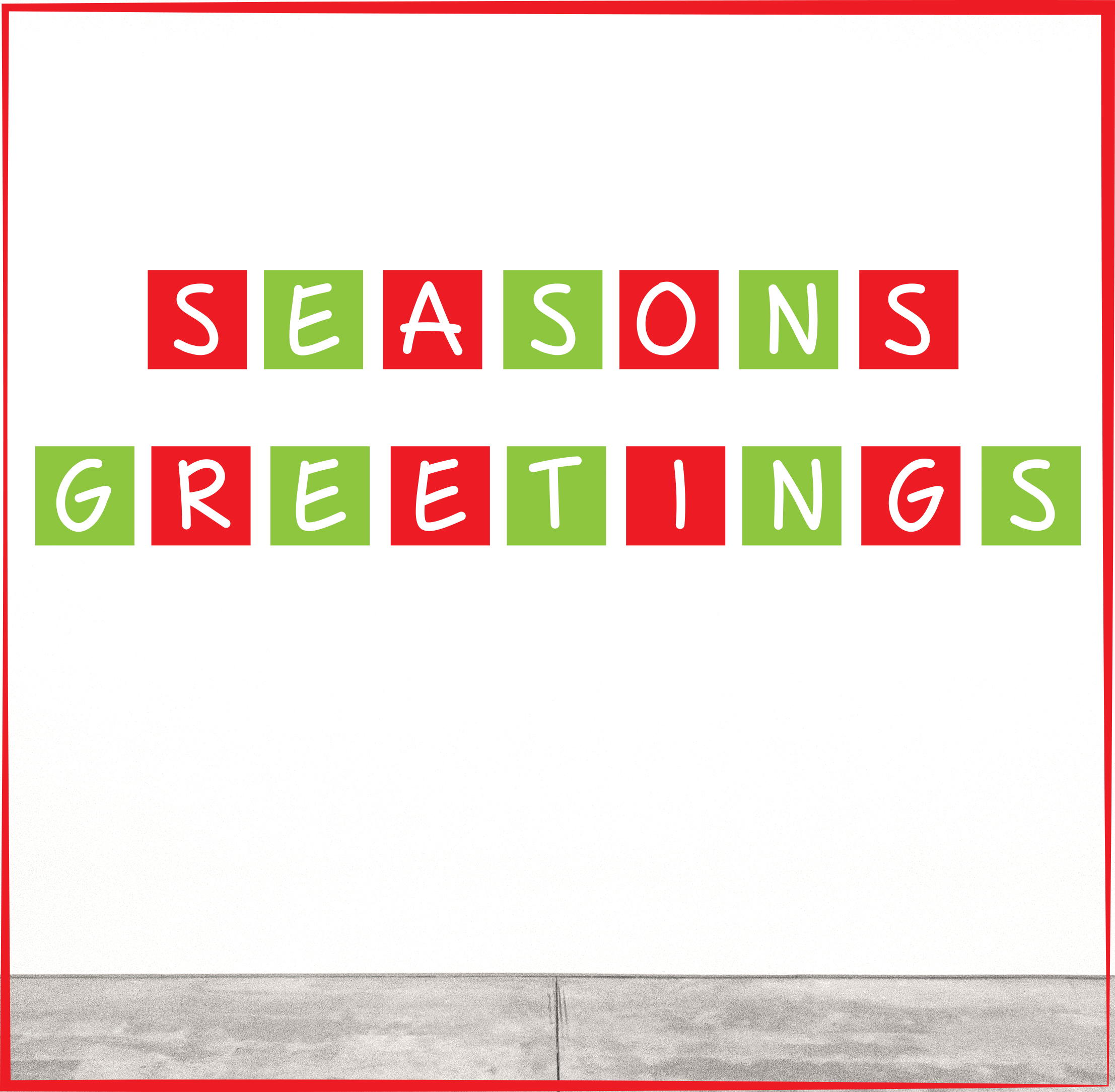 Pack 4:     Square Christmas Letters  - $79   Size: 200 x 200mm per letter - Two text options: 'Merry Christmas' or 'Seasons Greetings'
