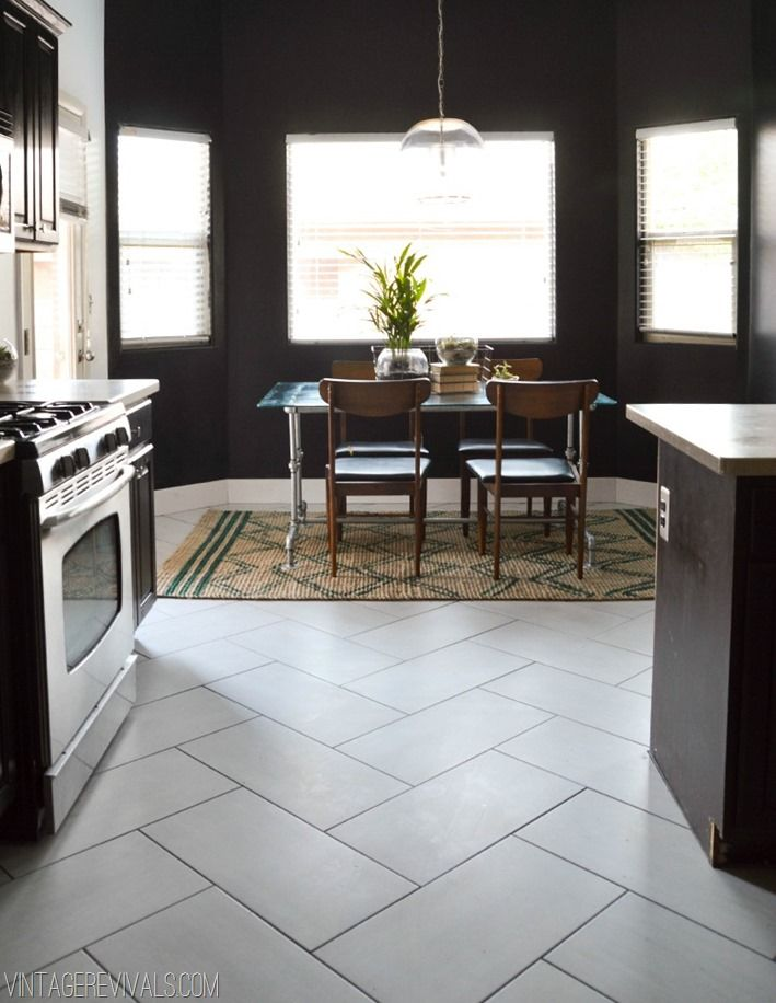 Now, this is probably what I picture most realistically right now ... This silk white tile is not TOO white, but nice and neutral. Plus, I love the herringbone pattern with these thick rectangles. Unfortunately,  Vintage Revival's  link is no longer active, so I'd have to find a similar option.