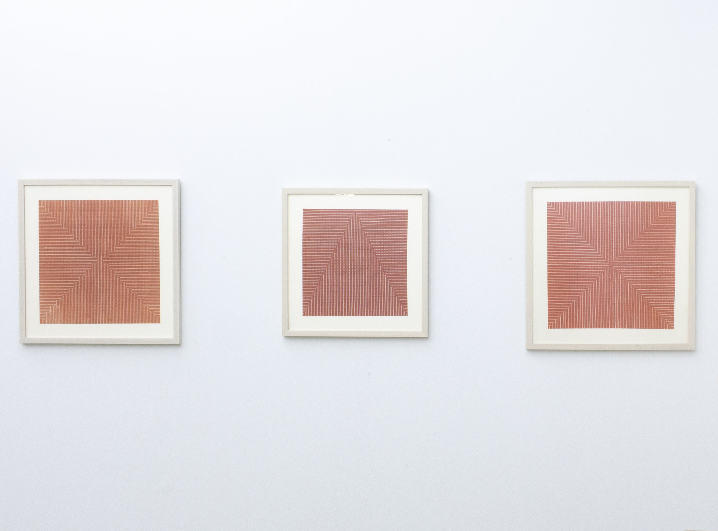 Salmon Colored Kids   I, II, III Woven Paper