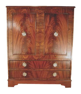 Mahogany and Rosewood Cabinet #1051