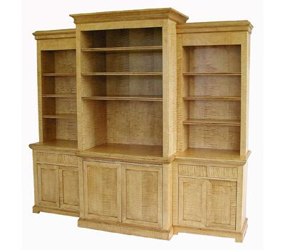 Tiger Maple Media Cabinet #1081