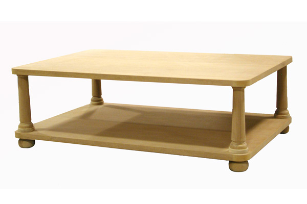 Rounded Corner Coffee Table #2081