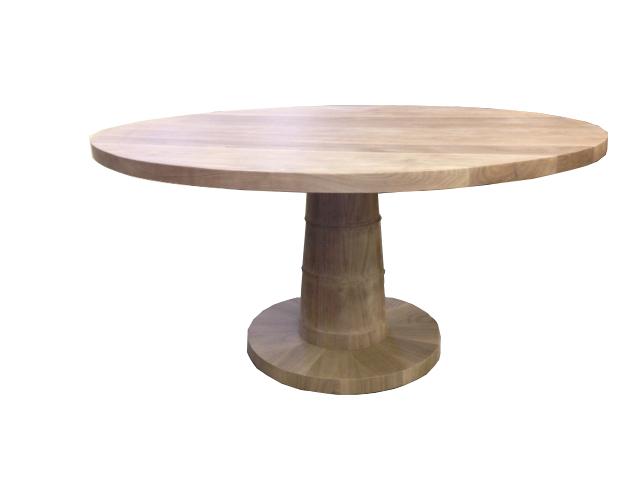 Turned Walnut Pedestal Table #2056