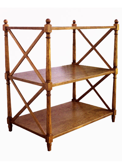 X Etagere Side Table #1023